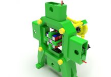 Fully 3D-Printed Rubik's Cube Solving Robot by otvinta3d - Thingiverse_DIY_robotic_pinter3d-one