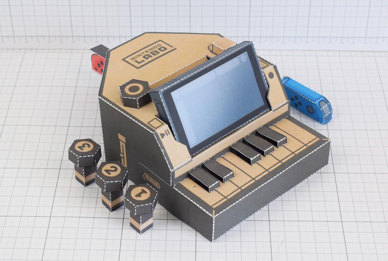 mu nintendo switch labo piano paper toy craft download stl diy kits